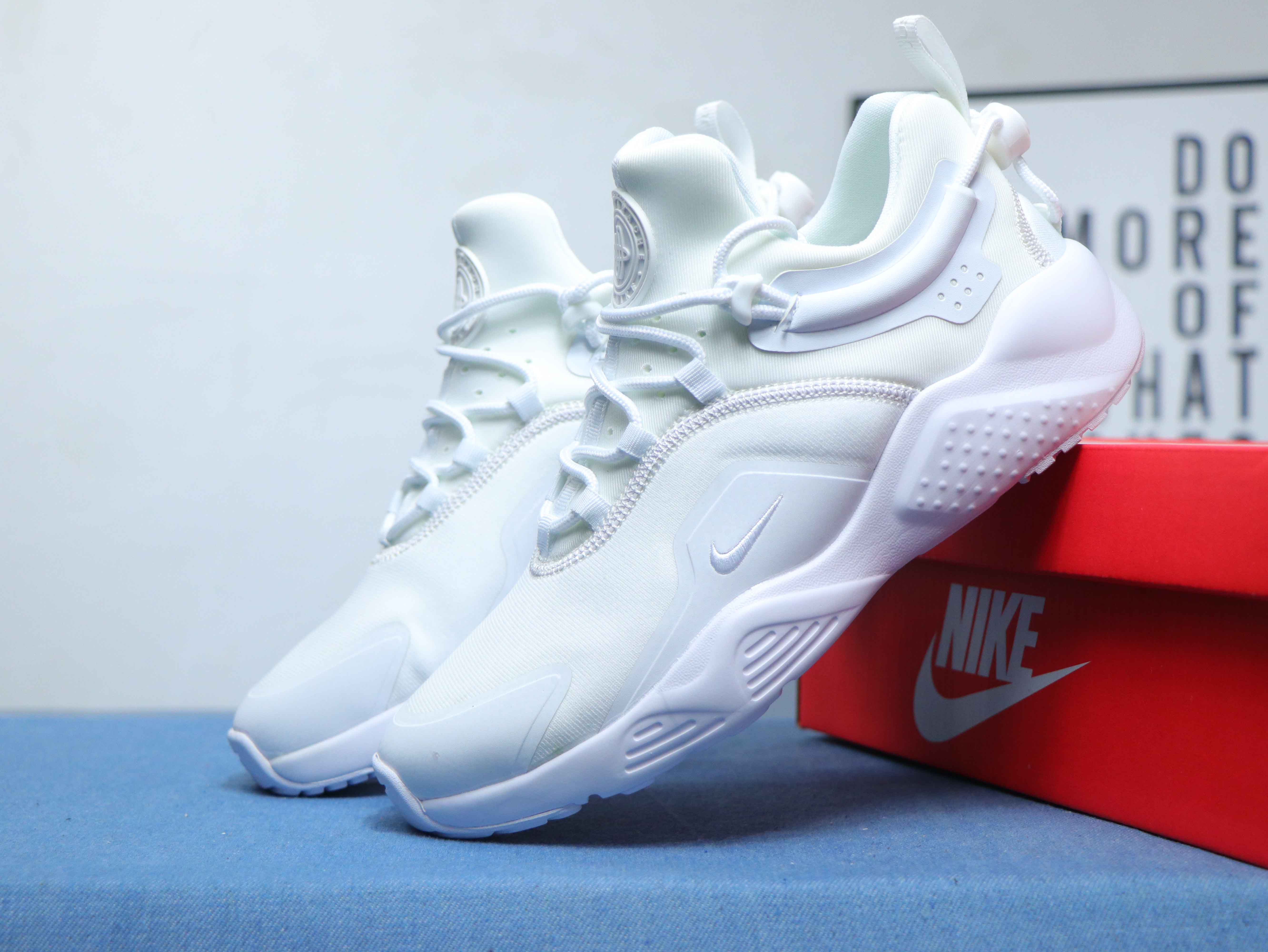 2020 Men Nike Air Huarache 8 All White Shoes